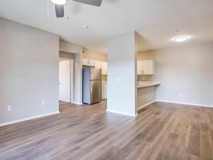 Wood Floor Living Room at The Villas at Towngate, Moreno Valley
